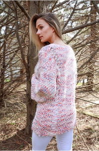 Multicolor Popcorn Sweater