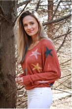 Load image into Gallery viewer, Rust Star Sweater