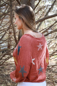 Rust Star Sweater