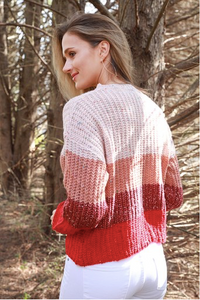Red Colorblock Sweater