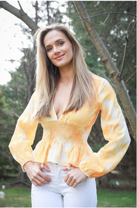 Orange Tie Dye Blouse