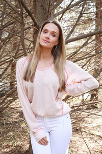 Light Pink Waffle Top
