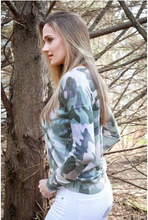 Load image into Gallery viewer, Knit Camo Top