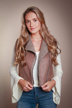 Load image into Gallery viewer, Brown Faux Suede Vest