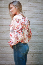 Load image into Gallery viewer, Floral Bohmeian Blouse