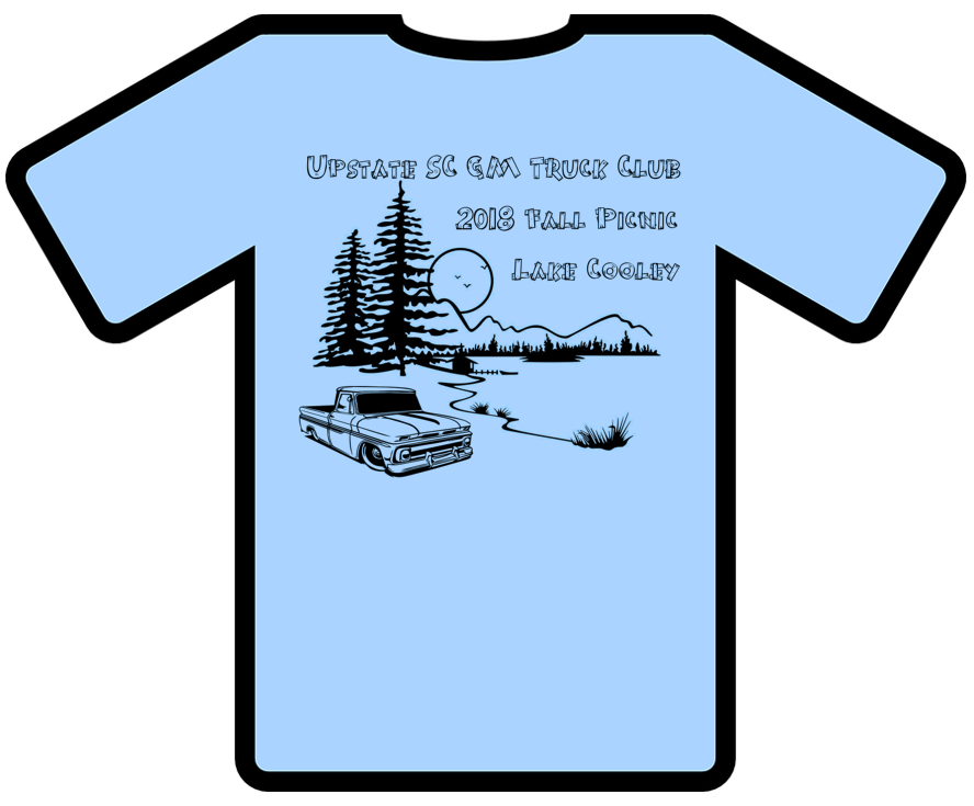2018 Upstate SC GM Truck Club Picnic T-Shirt