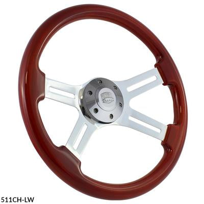 Forever Sharp Dual Classic Chrome Steering Wheel - Light Wood
