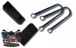 "Crown Suspension 1"" Steel Lowering Block With UBolts- 65-72"