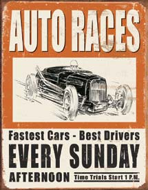 Metal Sign - Auto Races