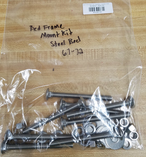 Bed Frame Mount Kit - Steel Bed - Stainless Steel - 67-72 C-10