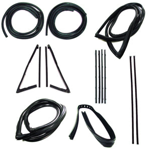 Precision Complete Weatherstrip Kit - 67-70 - With Trim Groove
