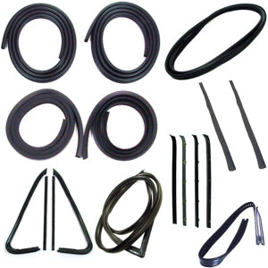 Precision Complete Weatherstrip Kit - 73-77 - W/O Mylar Chrome Trim