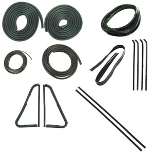 Precision Complete Weatherstrip Kit - 64-66 W/O Chrome Windshield Trim
