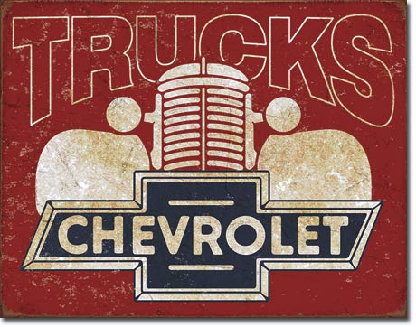 Metal Sign - Chevrolet 1940's Truck