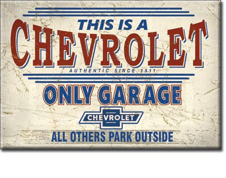 Metal Sign - Chevy Only Garage