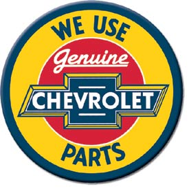 Metal Sign - Genuine Chevy Parts
