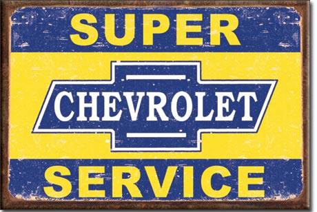 Metal Sign - Super Chevy Service