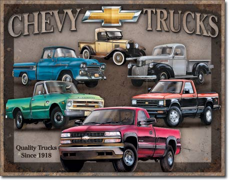 Metal Sign - Chevy Trucks Tribute