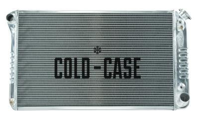 "Cold Case Aluminium Radiator With 12"" Fan Kit - 67-76"