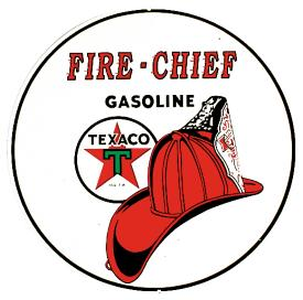 Metal Sign - Fire Chief  Gasoline