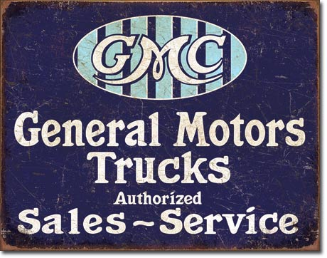 Metal Sign -  GM Trucks Sales & Service