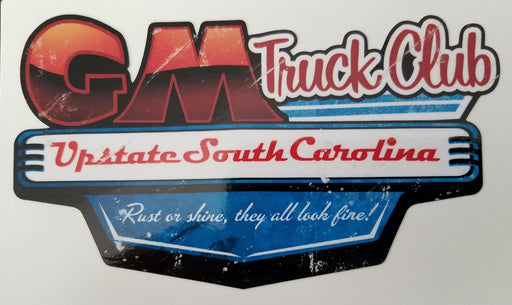 Upstate SC GM Truck Club Logo Decal