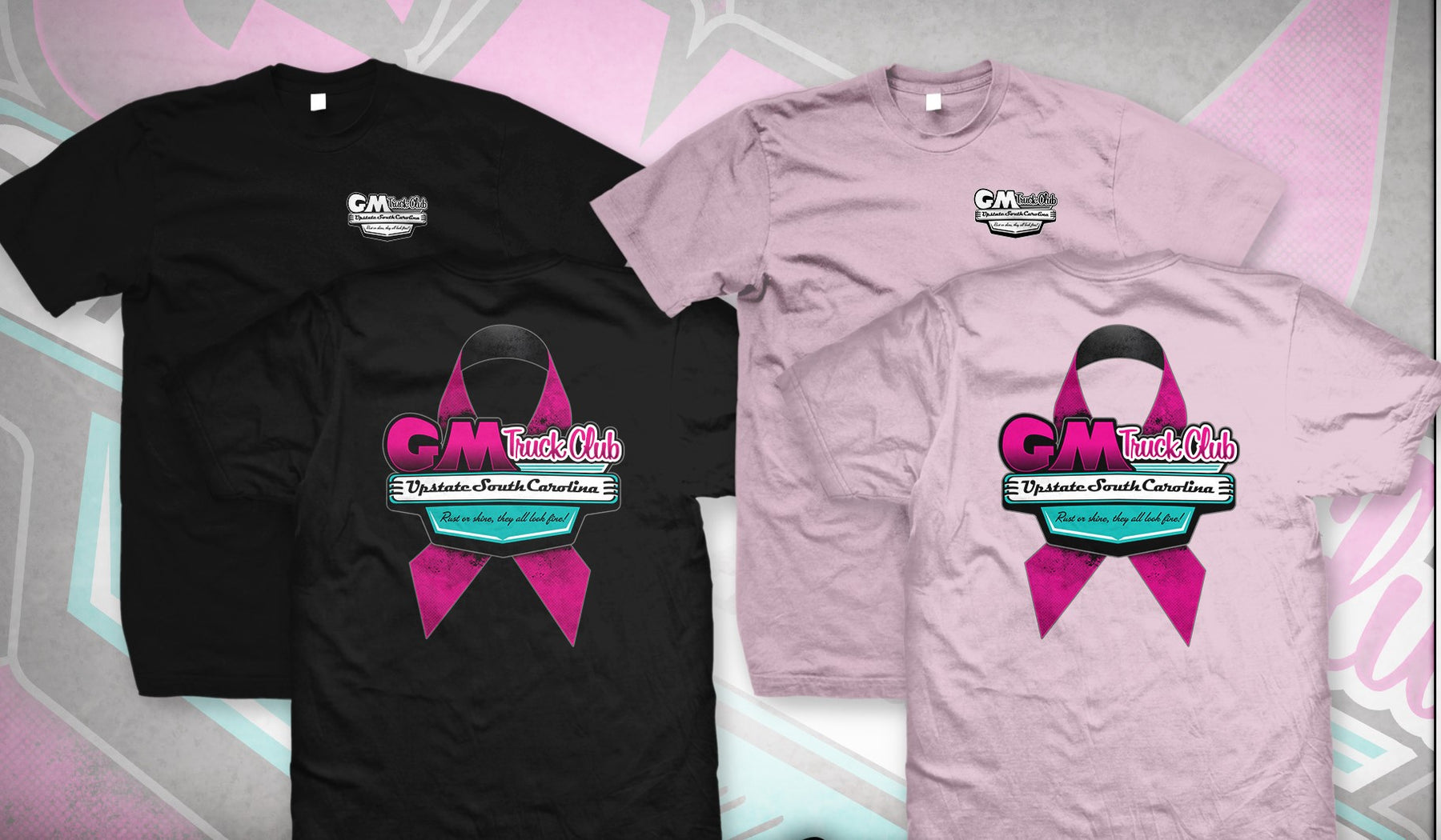 Upstate SC GM Truck Club Breast Cancer Awareness T-Shirt