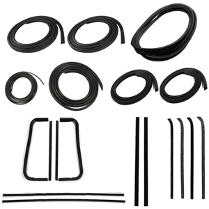 Precision Complete Weatherstrip Kit - 60-63 - With Trim Groove