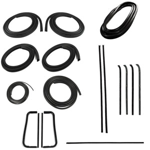 Precision Complete Weatherstrip Kit - 60-63 - W/O Trim Groove & Non-Metal Frame Windows
