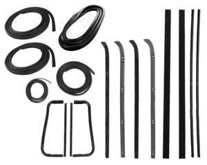 Precision Complete Weatherstrip Kit - 60-63 - W/O Trim Groove