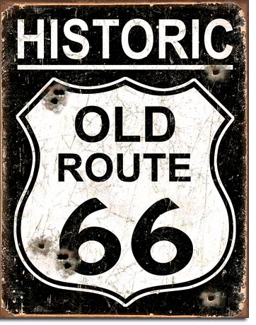 Metal Sign - Weathered Route 66