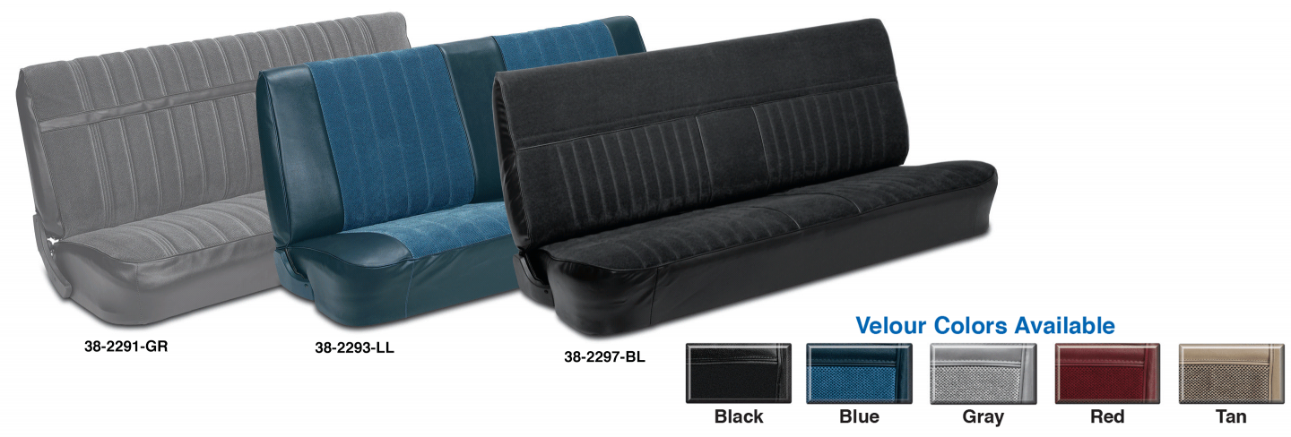 Bench Seat Cover - Velour - 81-87