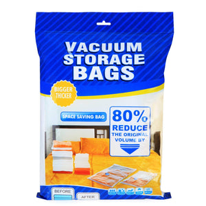 Makife Space Saving Vacuum Storage Bags Premium Compression Bags With Free Travel Hand Pump Works with Any Vacuum Cleaner (5 Packs, 24 x 32 inches)