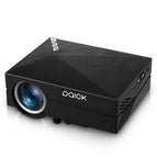 "Paick Mini Proyector (1000 Lumenes, 800x480P, Proyeccion 34"" - 130"", 1000:1, 1M Mini distancia, 22 Idiomas, Altavoz, Interfaces AV, VGA, USB, SD, HDMI, Soporta WIFI, y DLAN) Negro"