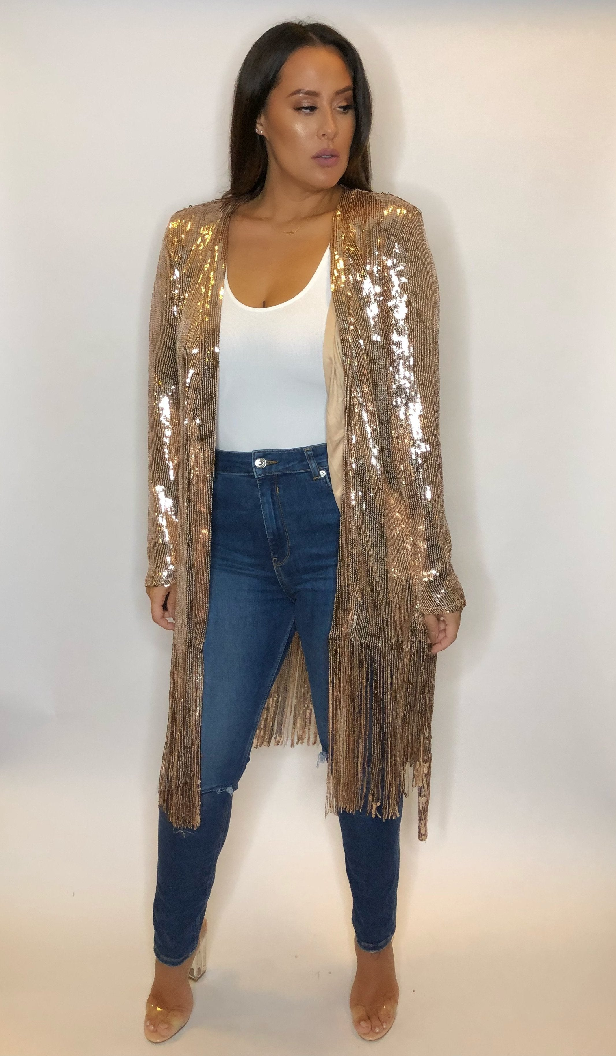 Rose Gold All Winter Duster