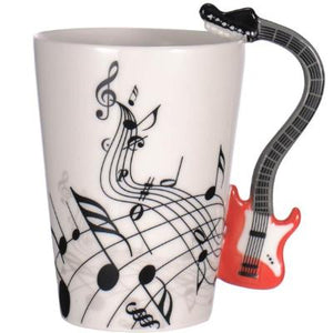 Unique guitar themed gifts. Guitar mugs - guitarlic.com