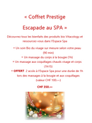 Escapade au SPA Prestige