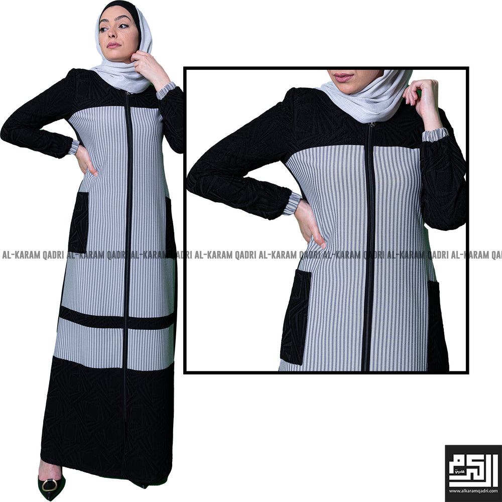 Semi-Formal Striped Abaya