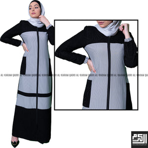 Load image into Gallery viewer, Semi-Formal Striped Abaya