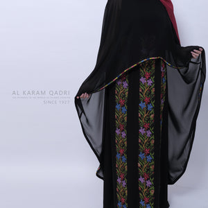 Load image into Gallery viewer, Navy Velvet Abaya