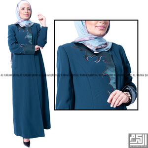 Formal Turquoise Satin Jilbab