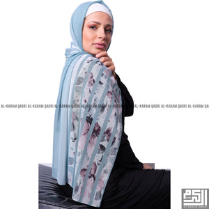 Load image into Gallery viewer, Floral Striped Shawl - Al Karam Qadri
