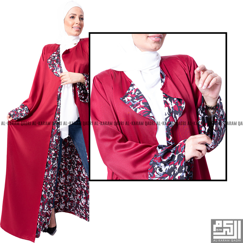 Double-Face Silk Designer Abaya