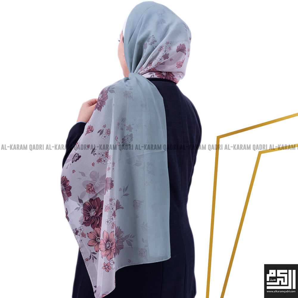 Floral Patterned Shawl