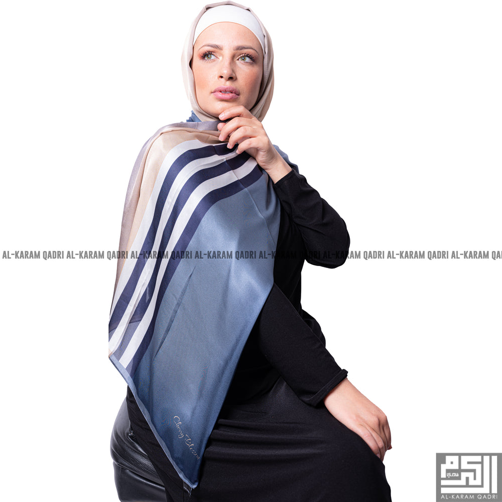 Turkish Satin Striped Shawl - Al Karam Qadri