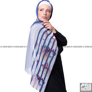 Floral Striped Shawl - Al Karam Qadri