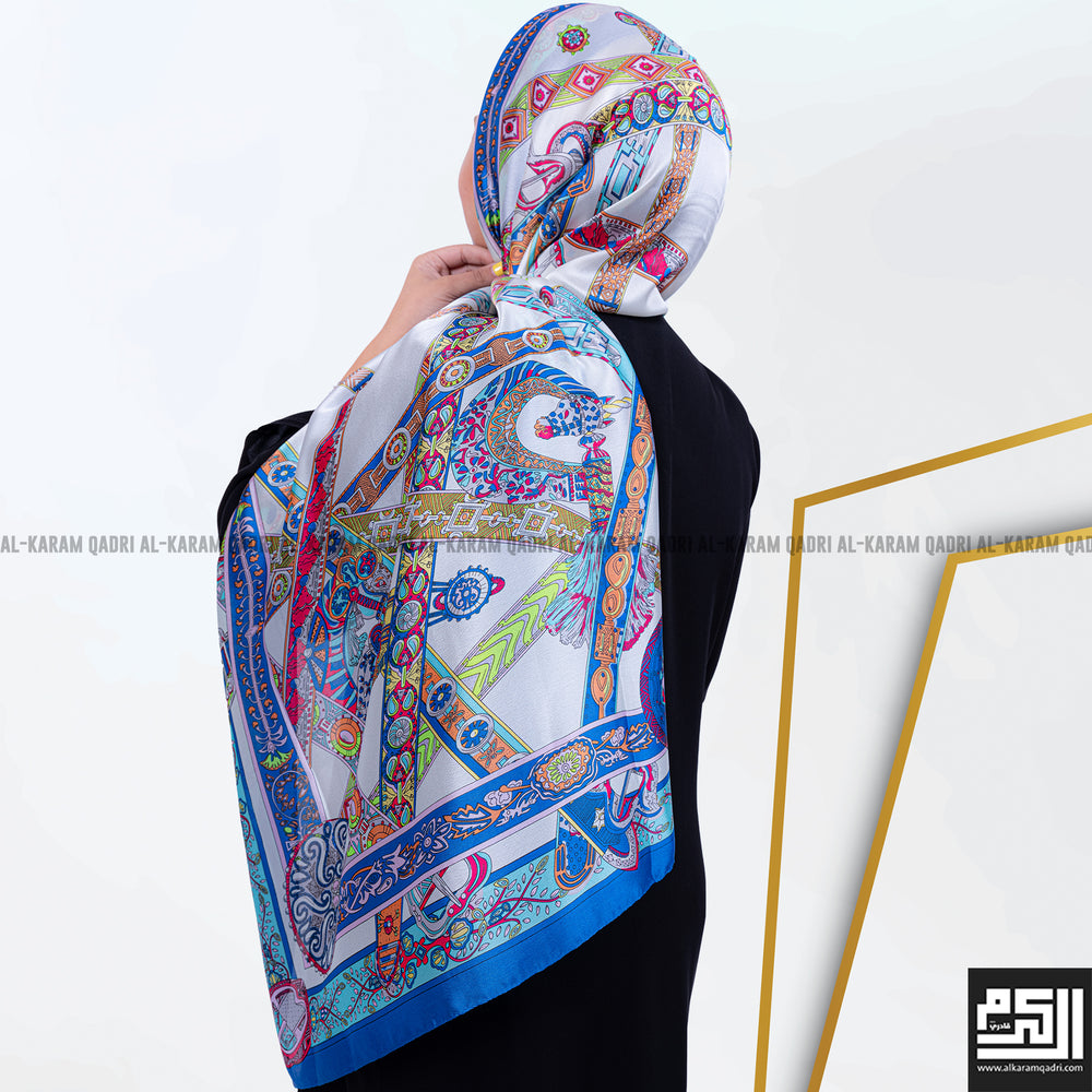 Load image into Gallery viewer, Modern Patterned Silk Shawl