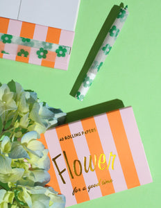 Flower Rolling Papers in Leaf Green