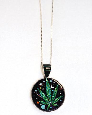 Cannabis Galaxy Necklace