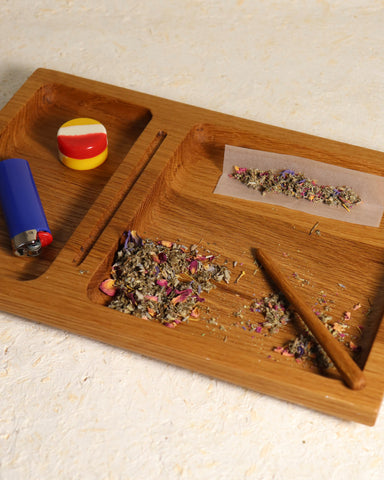 Hand-carved Rolling Tray